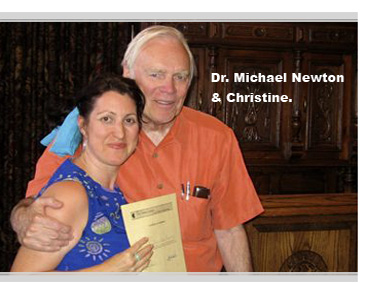 Christine With Dr. Michael Newton